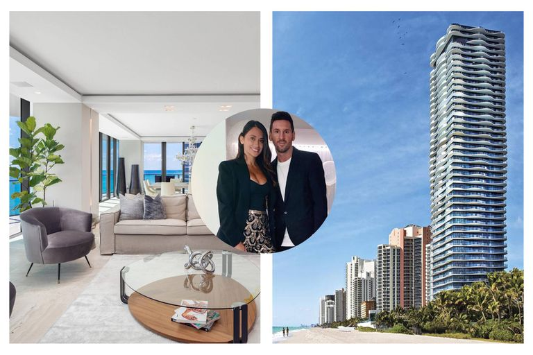 This is the interior of the millionaire apartment that Lionel Messi and Antonella Roccuzzo bought in Miami