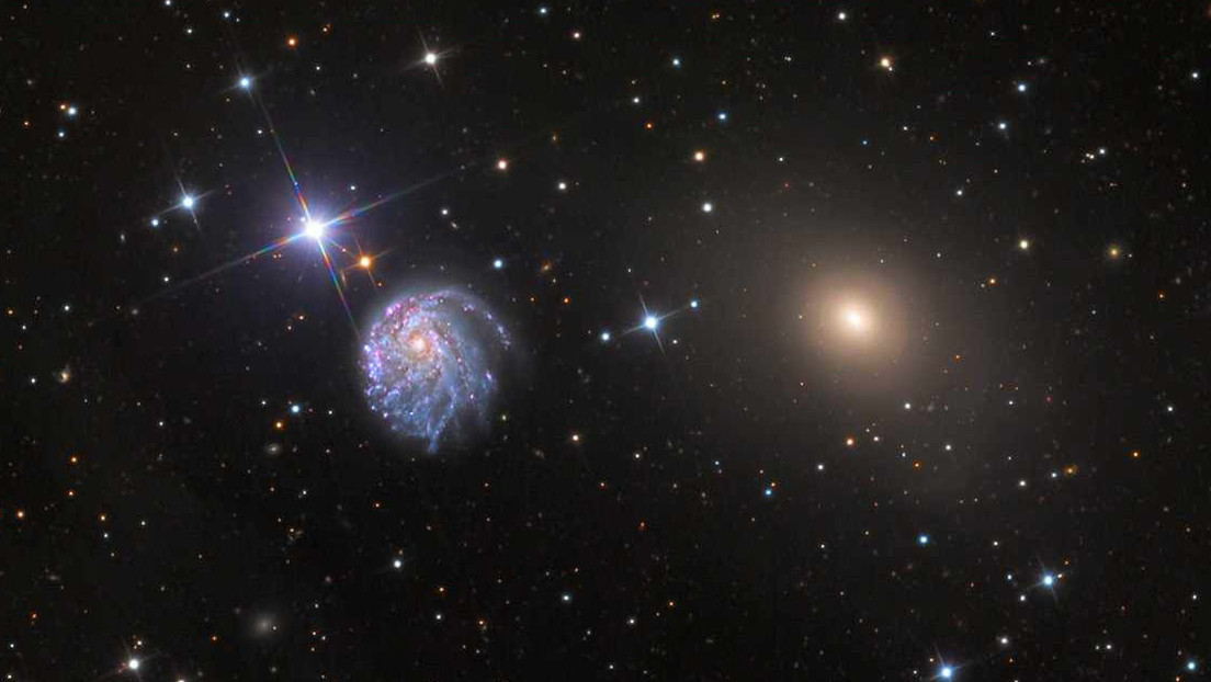 Hubble captures unusually twisted spiral galaxy