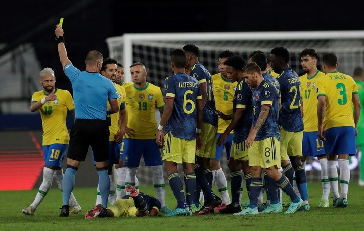 There was a scandal against Colombia.  (AP Photo/Silvia Izquierdo)