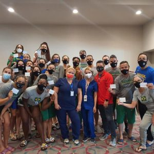 Brazil national team vaccination on the island |  Sports