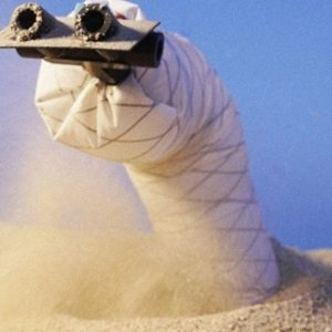 """""""Earthworm"""" robot digging in sand, a technology that could be key to exploring other planets"""