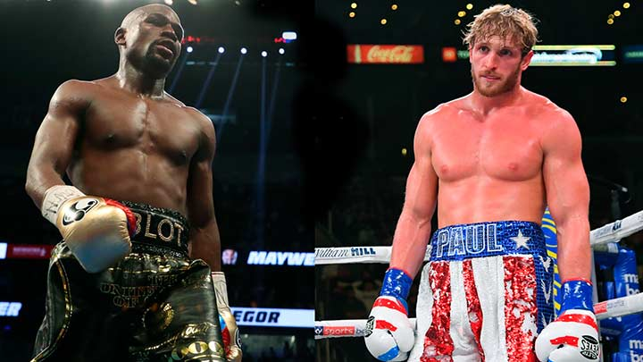 On what channel is Floyd Mayweather vs.  Does Logan Paul live in your country?