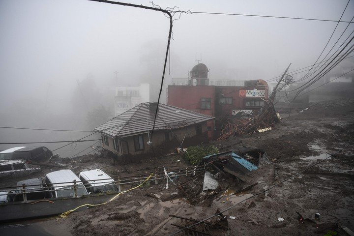 Another view of the damage done to Atami after the landslide.  (AFP)