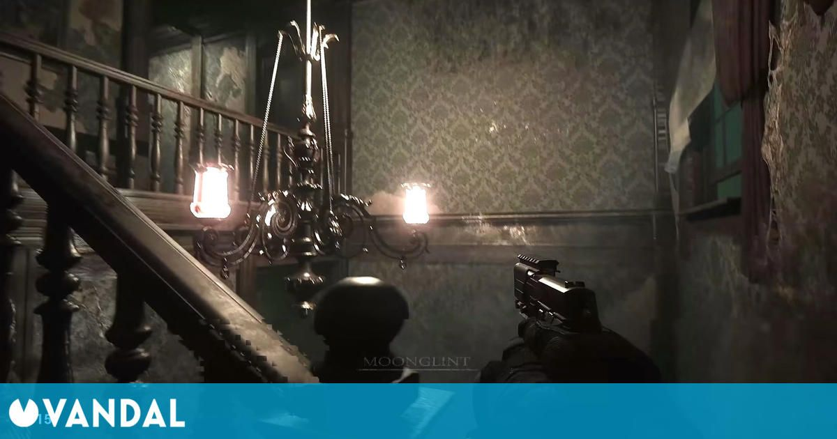 Resident Evil HD Remaster has been recreated in first person view for PC with Unreal Engine 4