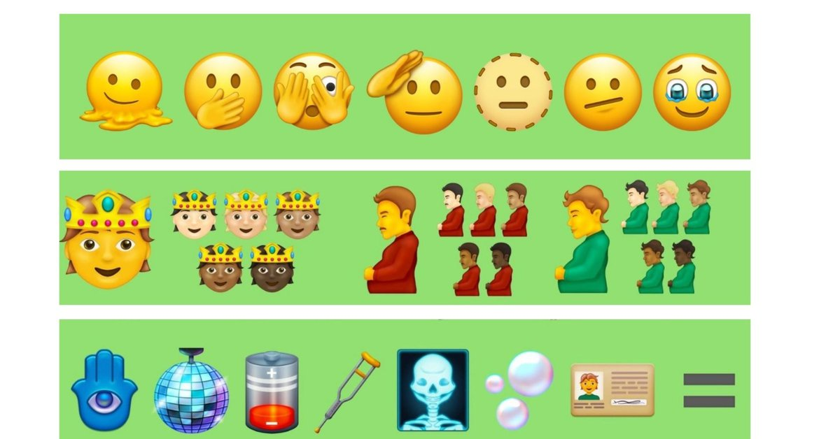 New emojis coming to your cell phone: pregnant man, face melting, low battery