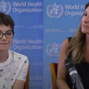 A question about a boy who moved the leader of the World Health Organization in the middle of the conference