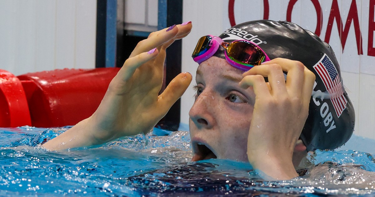 American swimmer Lydia Jacoby wins gold at Tokyo Olympics