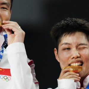 China and Japan finished the first week ahead of the US in the medal table in Tokyo