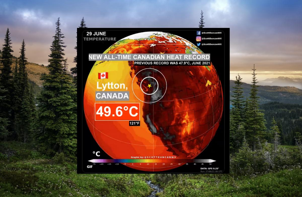 In Canada the temperature reaches 49.6 degrees, billboards and power lines are melting    Life