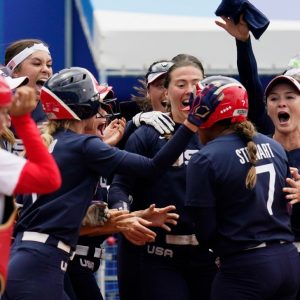 Kelsey Stewart's home run beat USA over Japan and remains undefeated in Olympic softball