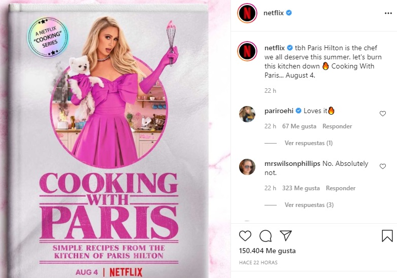 Paris Hilton will have a cooking show