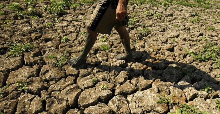The scientist is studying the main climate report after a series of disasters – the science