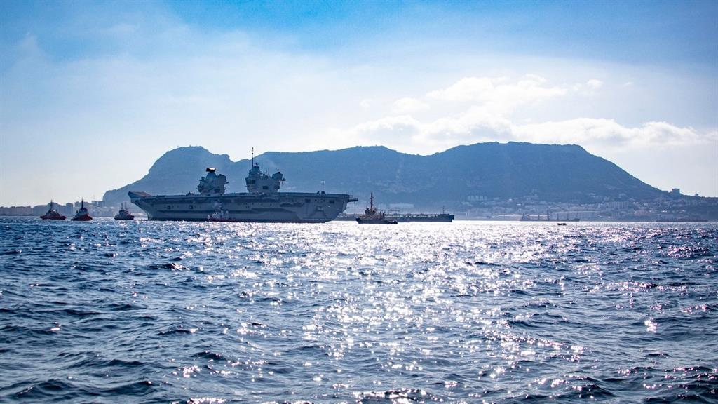 United kingdom.  Gibraltar welcomes the aircraft carrier HMS Prince of Wales on its first visit to a port outside the UK