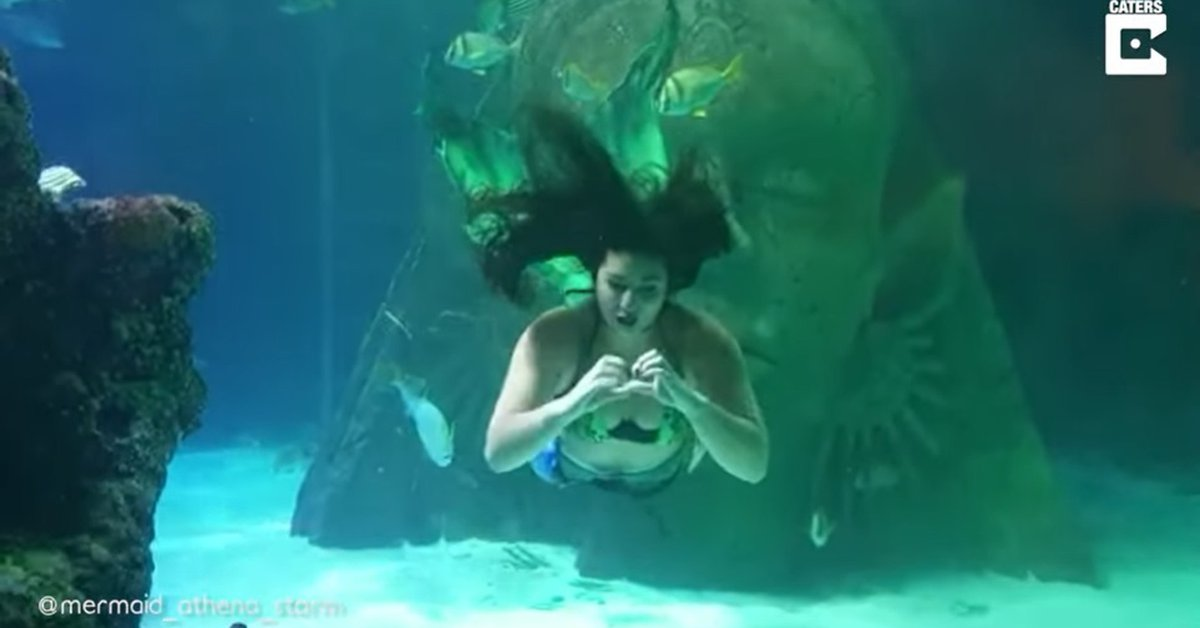 break up.  This 26-year-old makes a living being a professional mermaid while she is getting her medical degree.