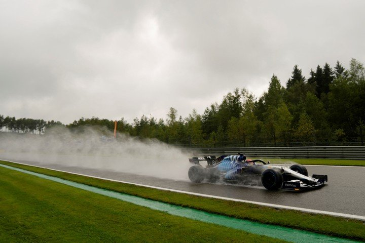 George Russell shone in the rain at Spa-Francorchamps.  (Photo: Francisco Seco/AP)