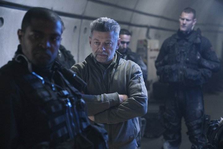 """Andy Serkis, who played Gollum and Caesar in """"planet of the apes"""".  netflix pictures"""