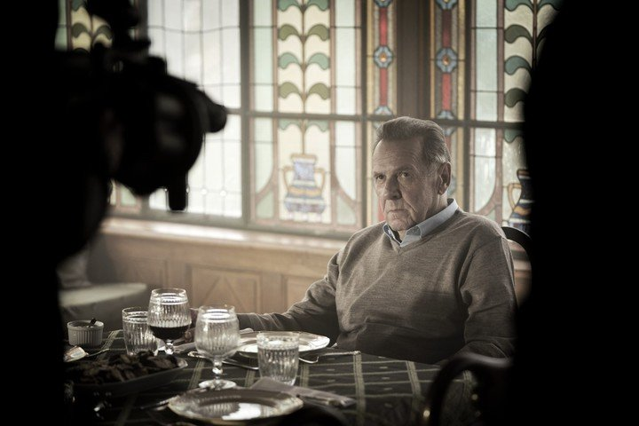 Tom Wilkinson, two-time Oscar nominee.  not for that.  Netflix picture