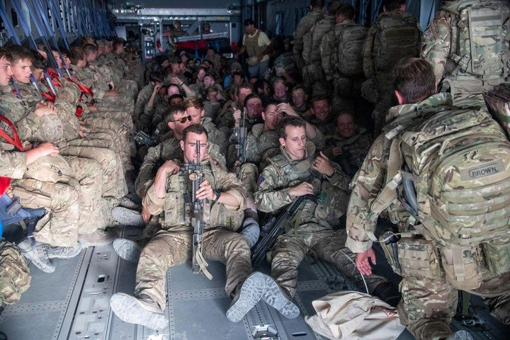 British forces withdrew from Kabul airport on Saturday.  Photo EFE