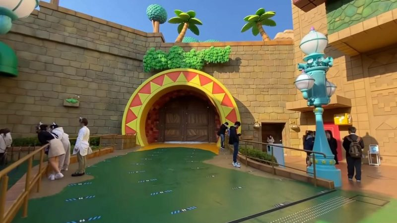 A mysterious locked door has appeared in the Super Mario theme park, and fans are freaking out