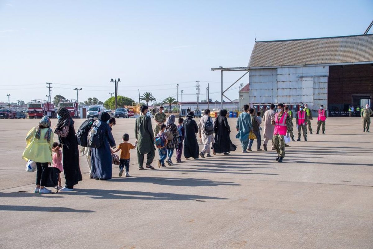 A third plane with 220 evacuees on board from Afghanistan lands at Rota base (Cadiz)