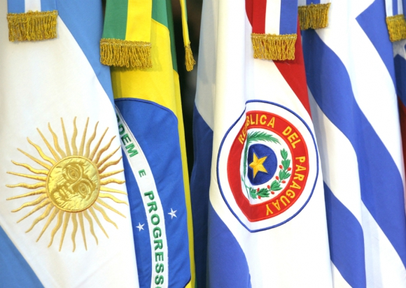 Flag of the countries that make up Mercosur.  Photo: El País . Archive