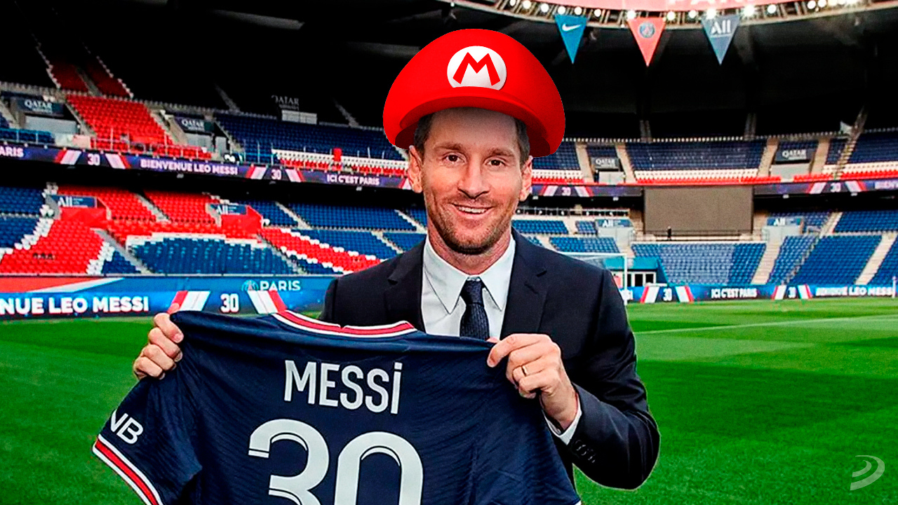 Ligue 1 celebrates Messi's arrival with Super Mario-inspired tribute