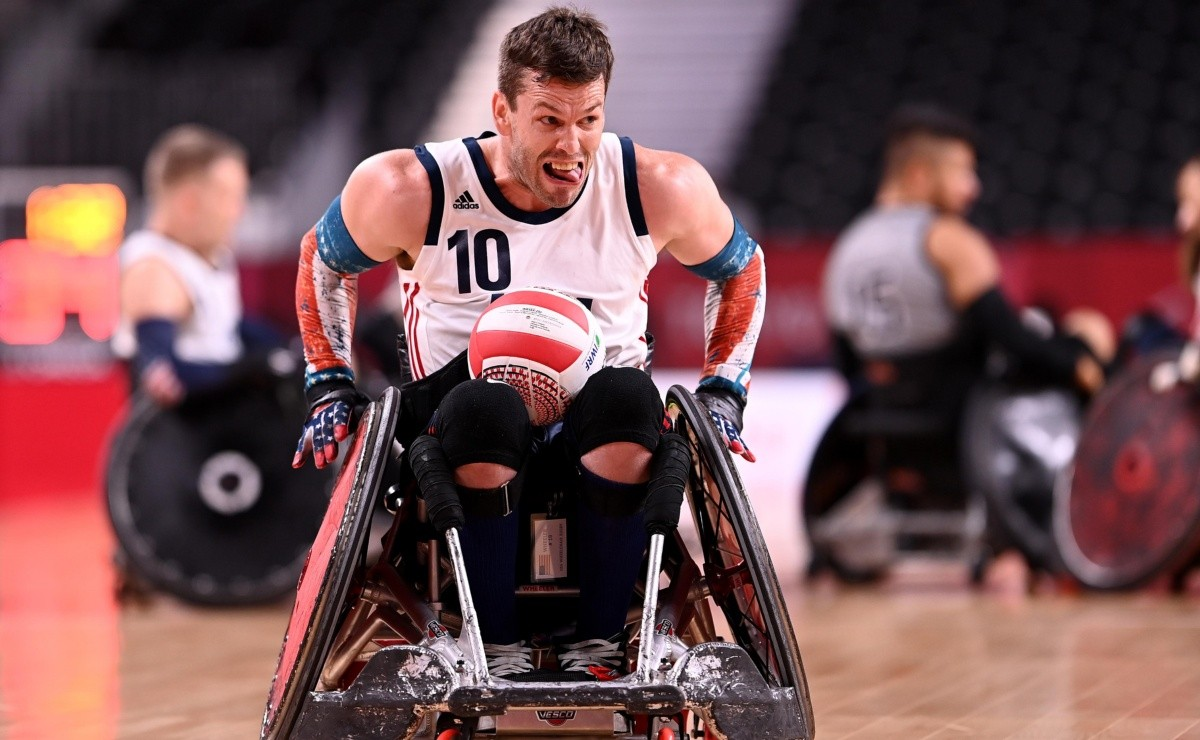 See today |  United States vs Canada |  Rugby in a wheelchair