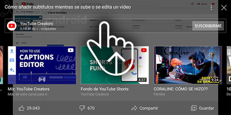 Youtube Gesture Actions Recommendations