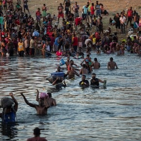 Drama of US-bound Haitians: More than 12,000 Haitian immigrants crossed the Rio Grande into the US