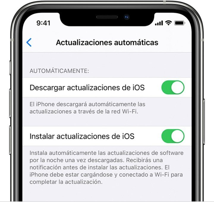 Enable automatic updates on iPhone.