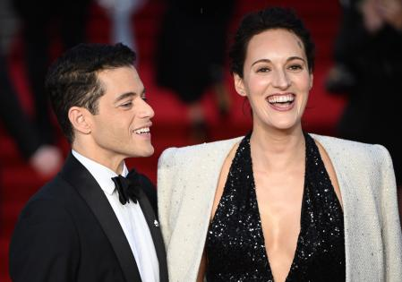Rami Malek and Phoebe Waller-Bridge at the world premiere of the film in London