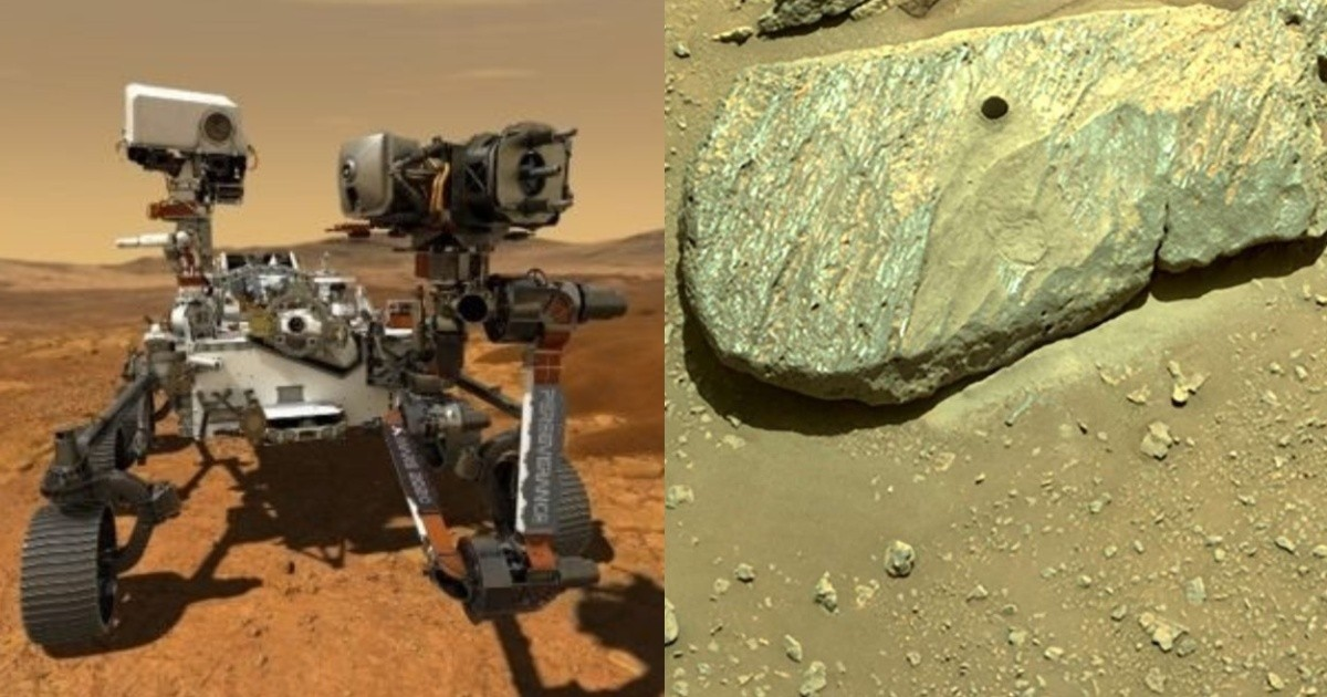 Photo: A NASA robot has captured a rock on Mars for the first time, but it will only reach Earth in 2031
