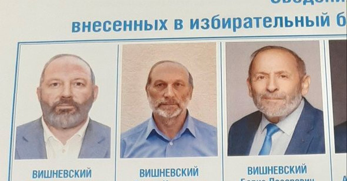 Two Russian candidates changed their names and physical appearance to match the preferred candidate and cast votes.