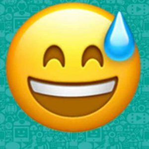 WhatsApp: What does a smiling emoji with a drop of sweat mean?  |  Chronicle