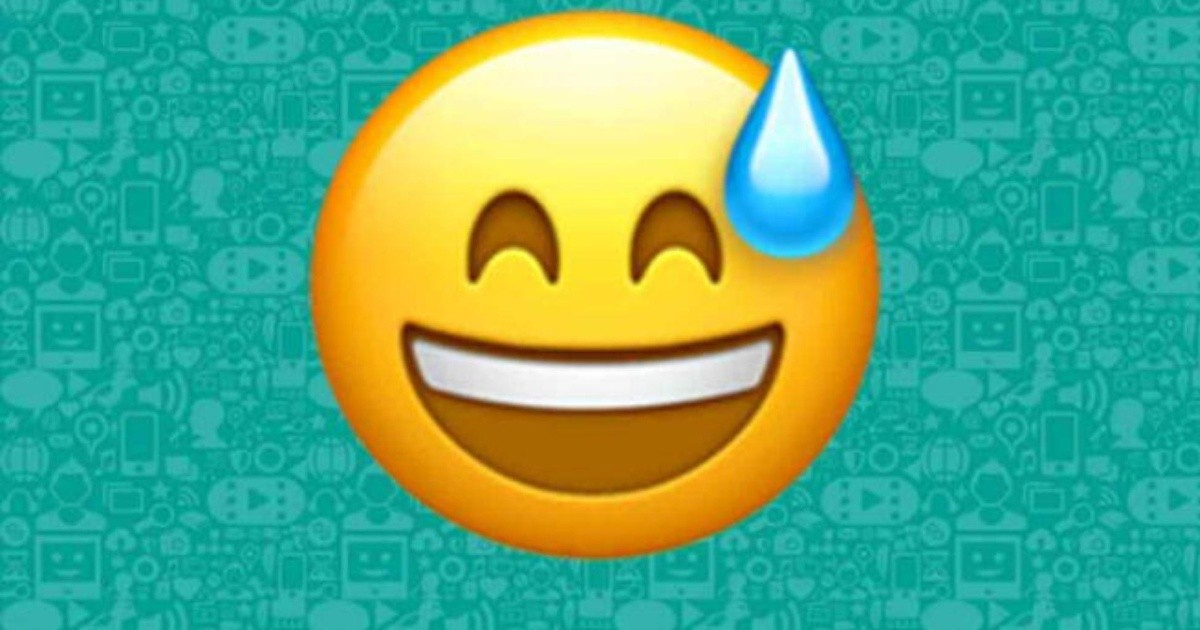 WhatsApp: What does a smiling emoji with a drop of sweat mean?     Chronicle