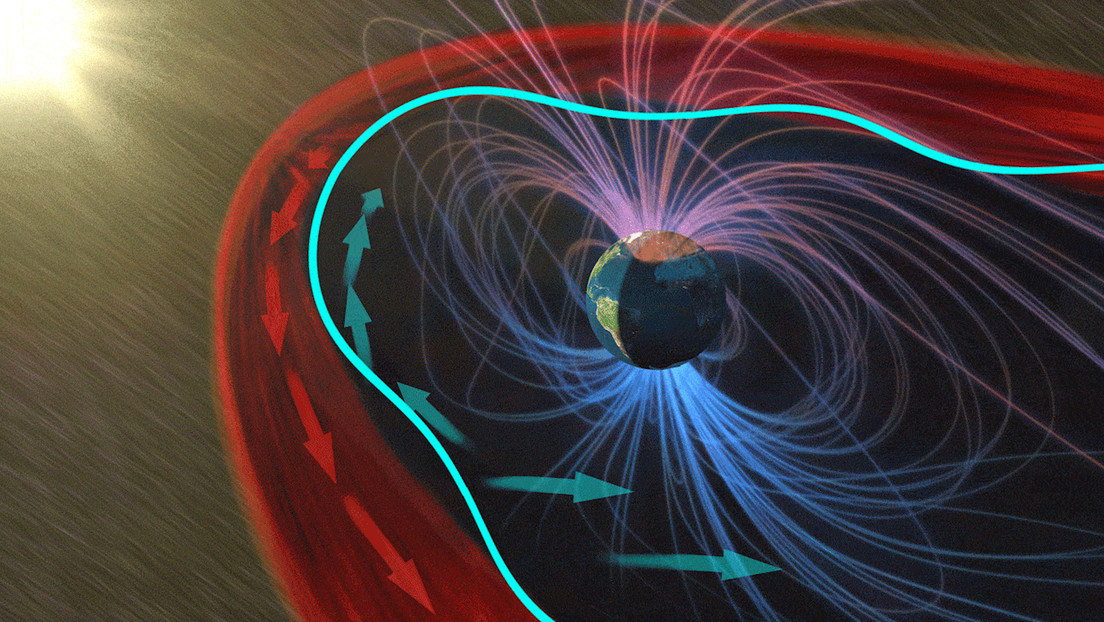 They discover what happens when the solar wind hits the Earth's magnetic 'bubble'