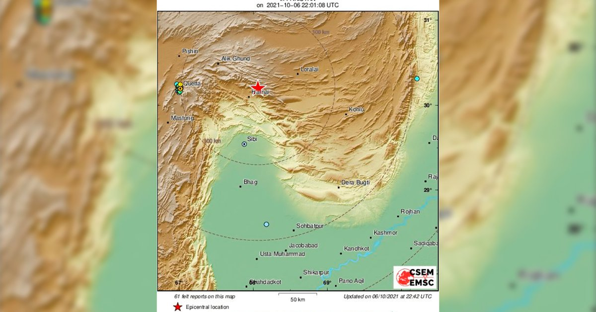 At least 20 dead and more than 300 injured after earthquake in southern Pakistan