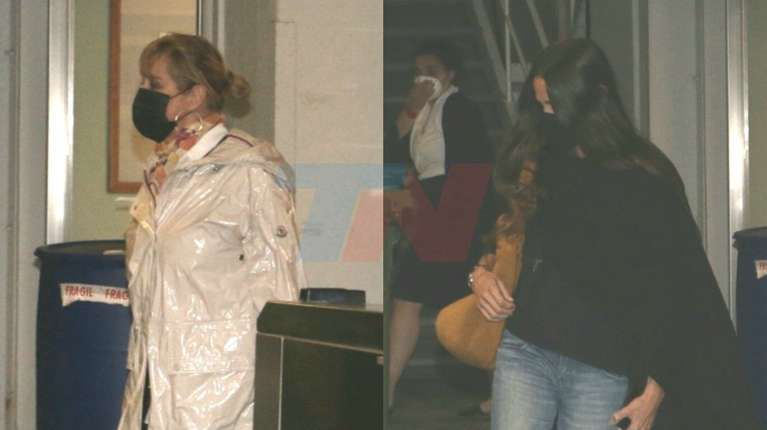 Marella Tenier and Joanna Viale accompanied Mirtha Legrand during the first hours of her hospitalization.  (Photo: Movil Press)