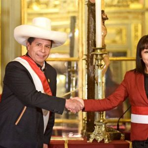 Pedro Castillo is facing the Peruvian Congress over a law that limits its power to dissolve parliament